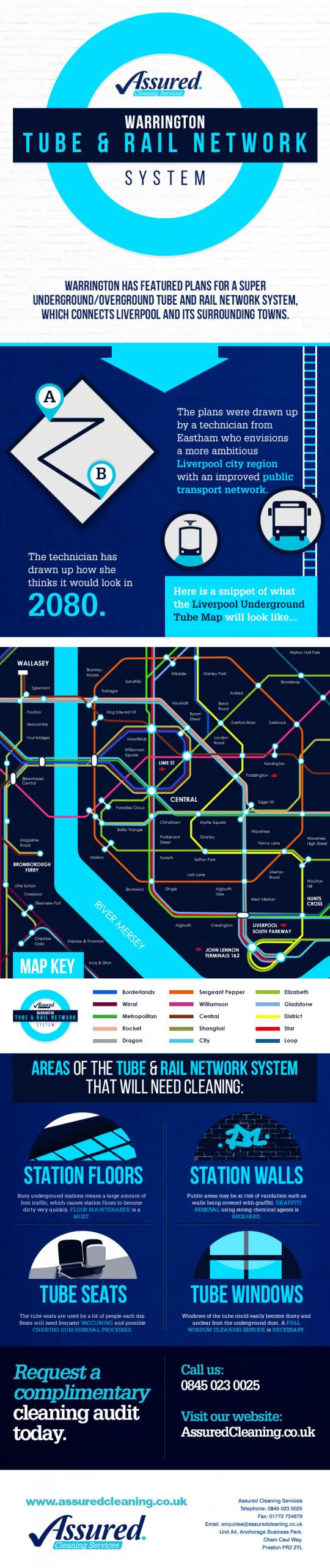 Warrington - liverpool Underground and Rail Network