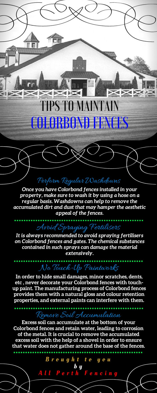 Tips To Maintain Colorbond Fences