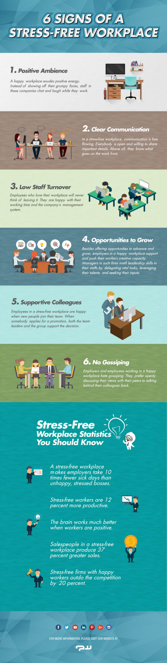 6 Awesome Signs of a Stress-Free Workplace [Infographic]