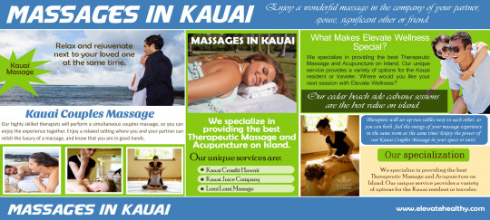 Kauai Massages Services On Island