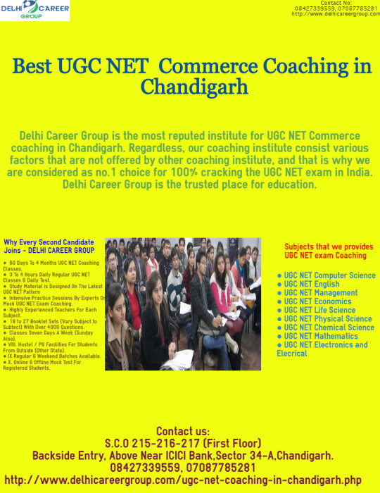 Best UGC NET Commerce coaching in Chandigarh