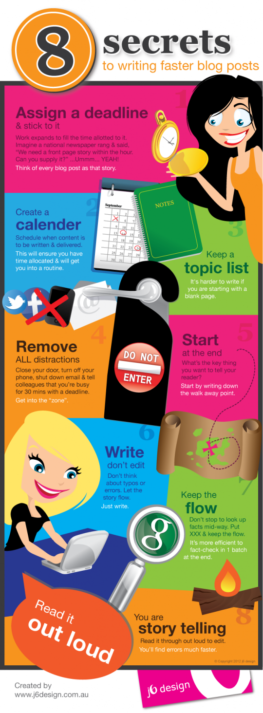 8 secrets to writing faster blog posts