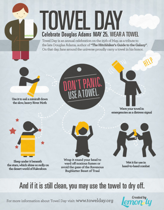 Celebrate Towel Day - May 25