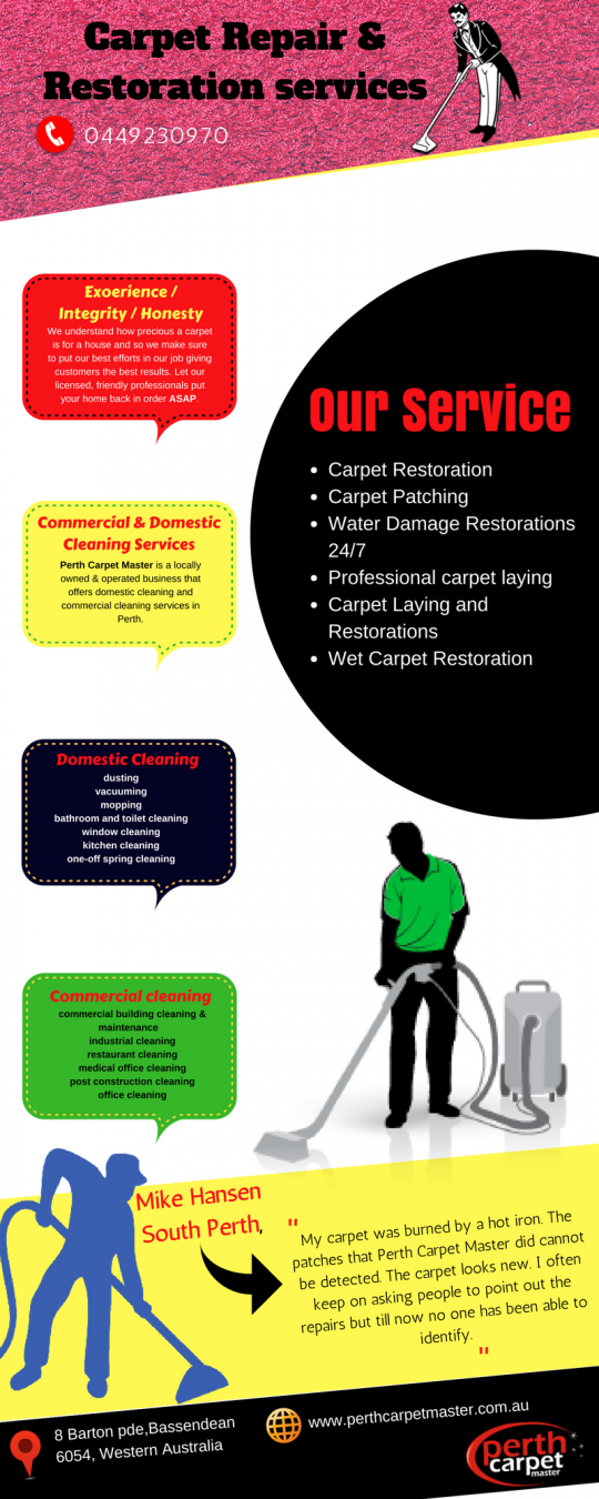 Carpet Repair and Restoration services