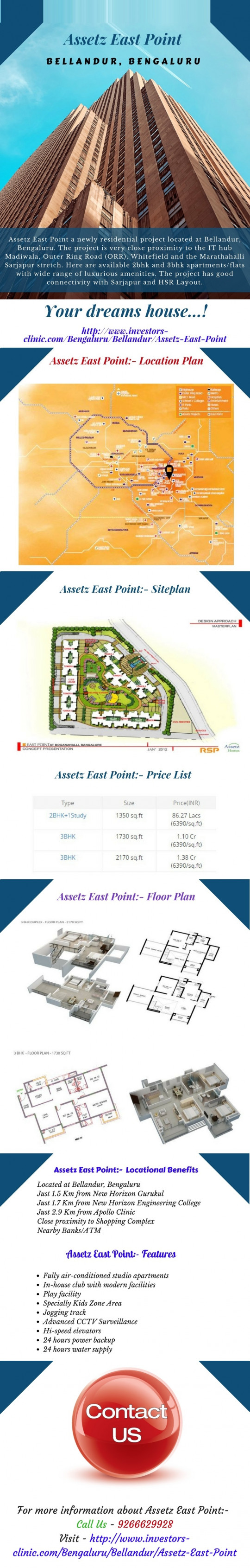 Assetz East Point – 2 and 3 BHK Flats in Bengaluru