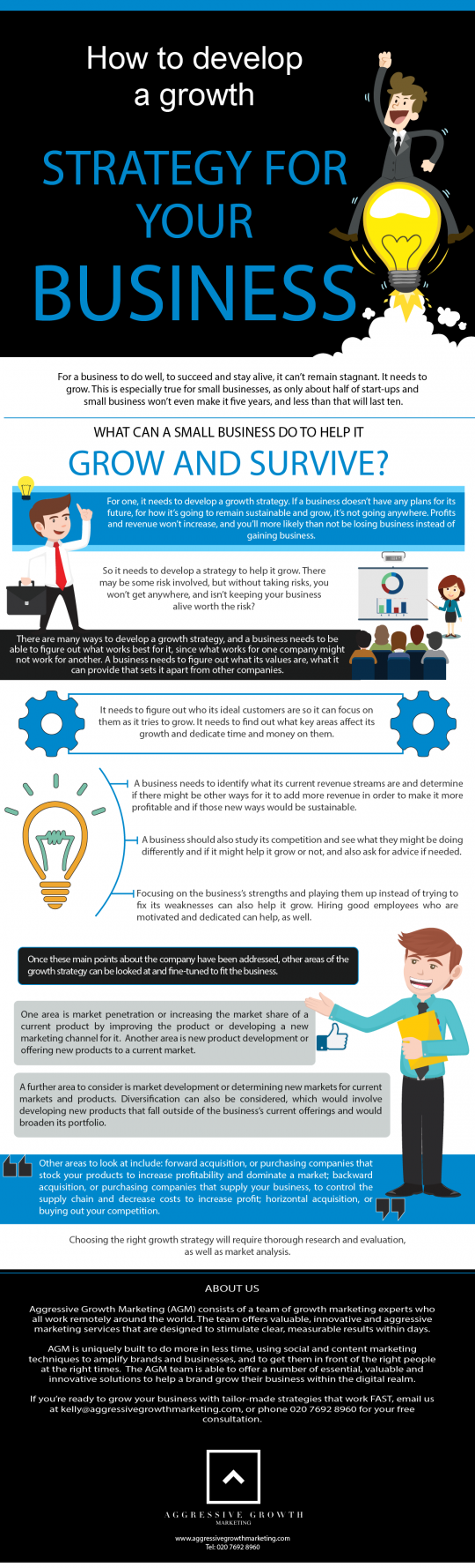Developing Growth Strategies For Businesses Infographic