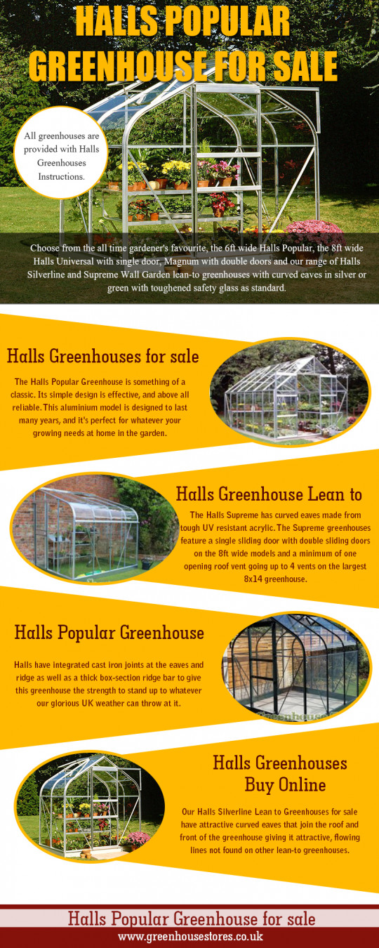Halls Greenhouse Lean to