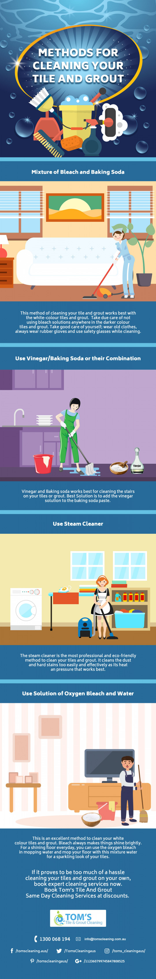 4 Methods for Cleaning Your Tile and Grout | Tile and Grout Cleaning ...