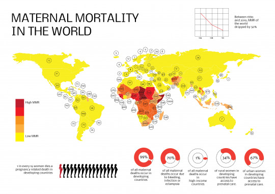 Maternal mortality in the world