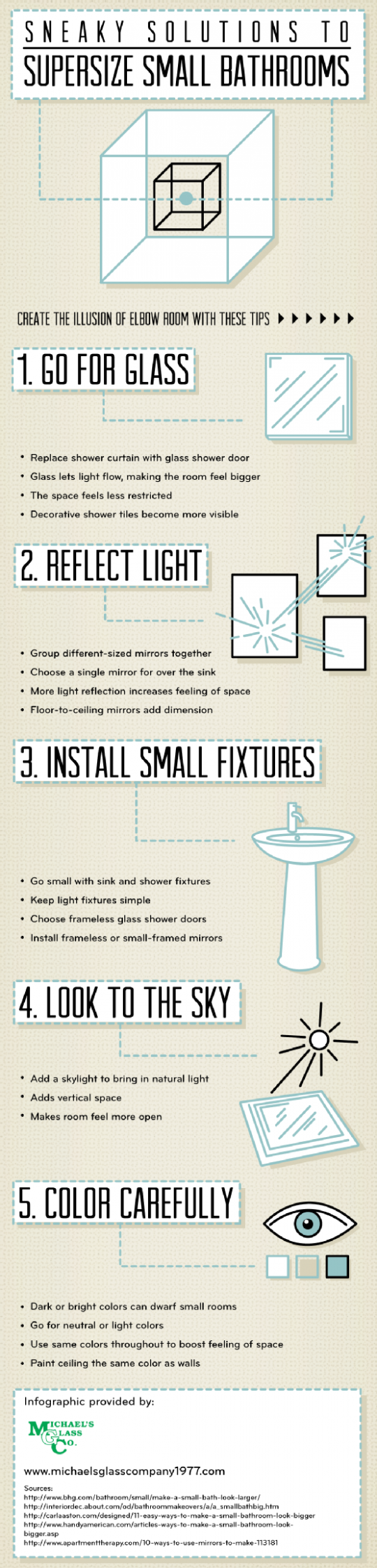 Sneaky Solutions to Supersize Small Bathrooms