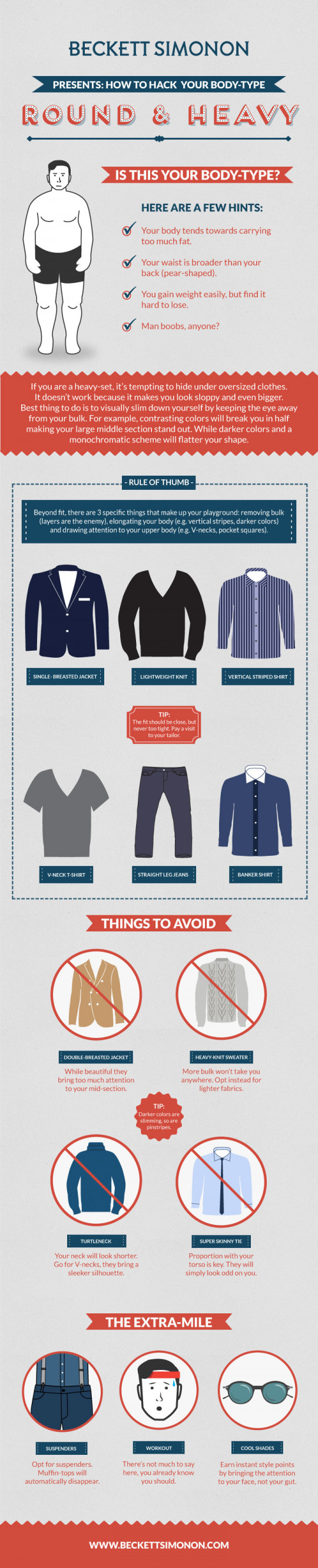 Dress for your body-type: Style tips for fat men.