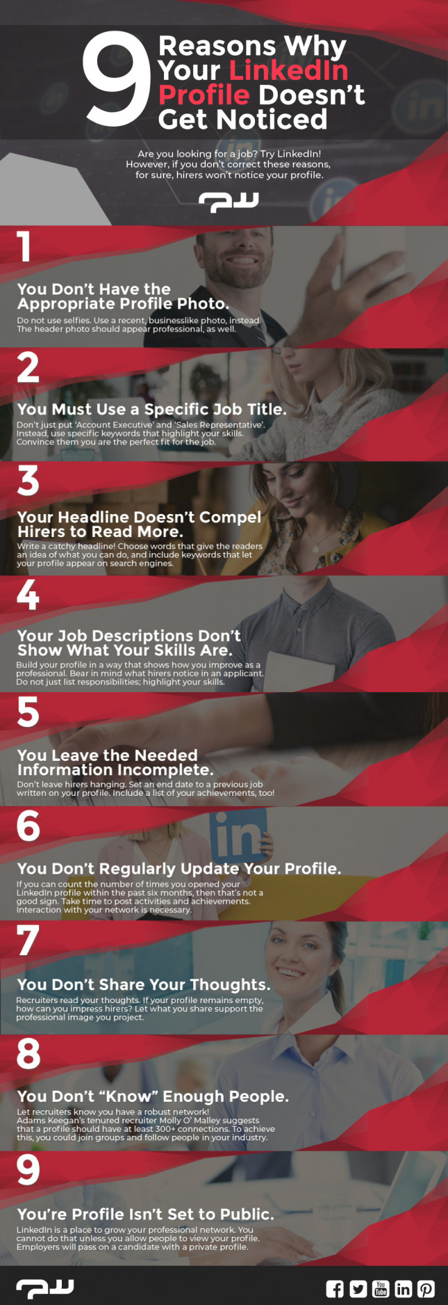 9 Reasons Why Your LinkedIn Profile Doesn't Get Noticed