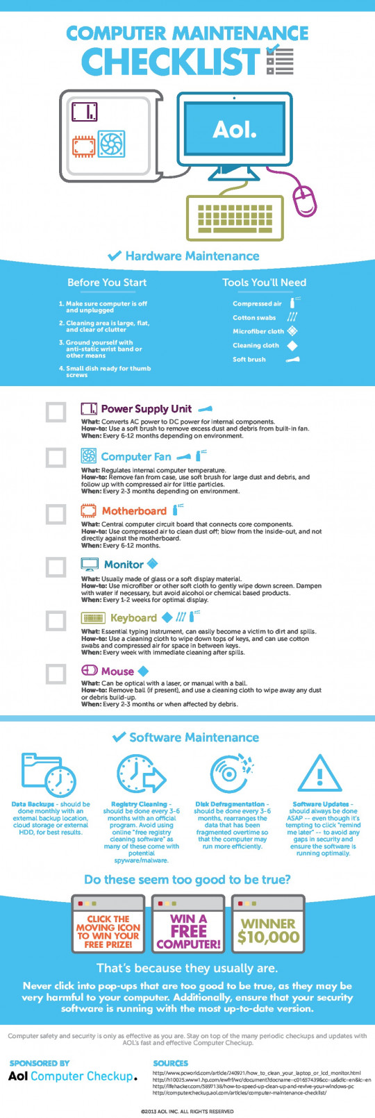 The Essential Computer Maintenance Checklist